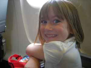 mycah on the plane